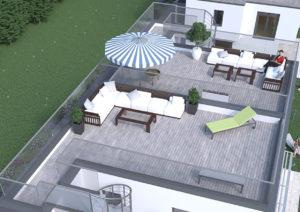 Bild Ziegelhofstraße 136 Dachterrasse Eigentumswohnungen dachraum Bauträger Immobilien 1220 Wien